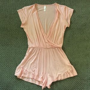 Nordstroms Pink romper, size small.